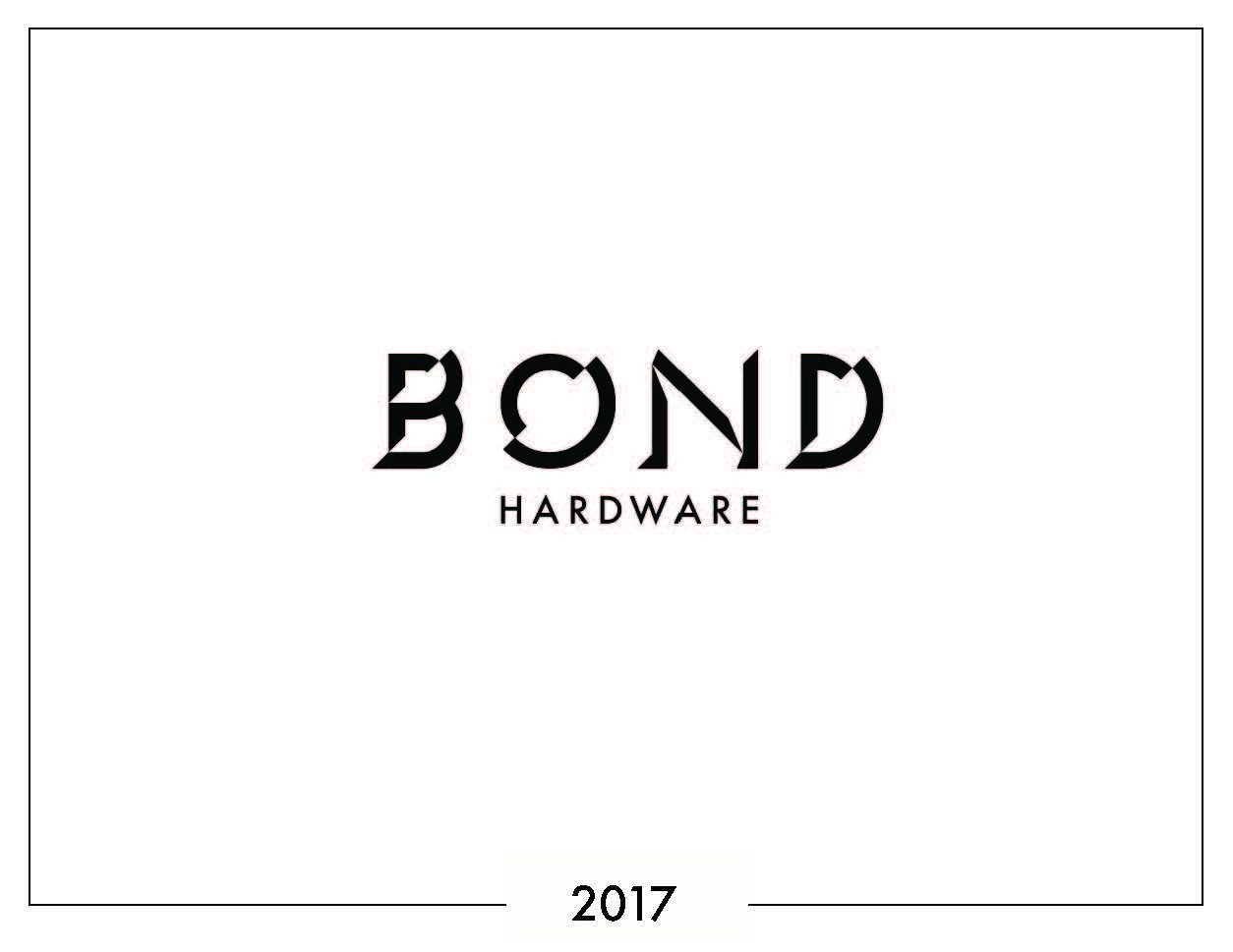 BOND Hardware Core Collection 2018 Lookbook_Page_01