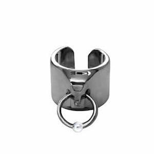 Pierced Signature Cuff Ring
