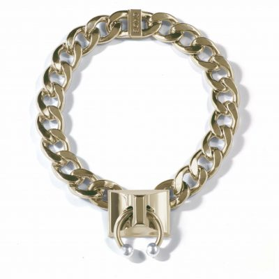 Pierced Chain Link Necklace