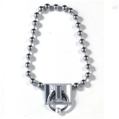 Pierced Signature Ball Chain Necklace