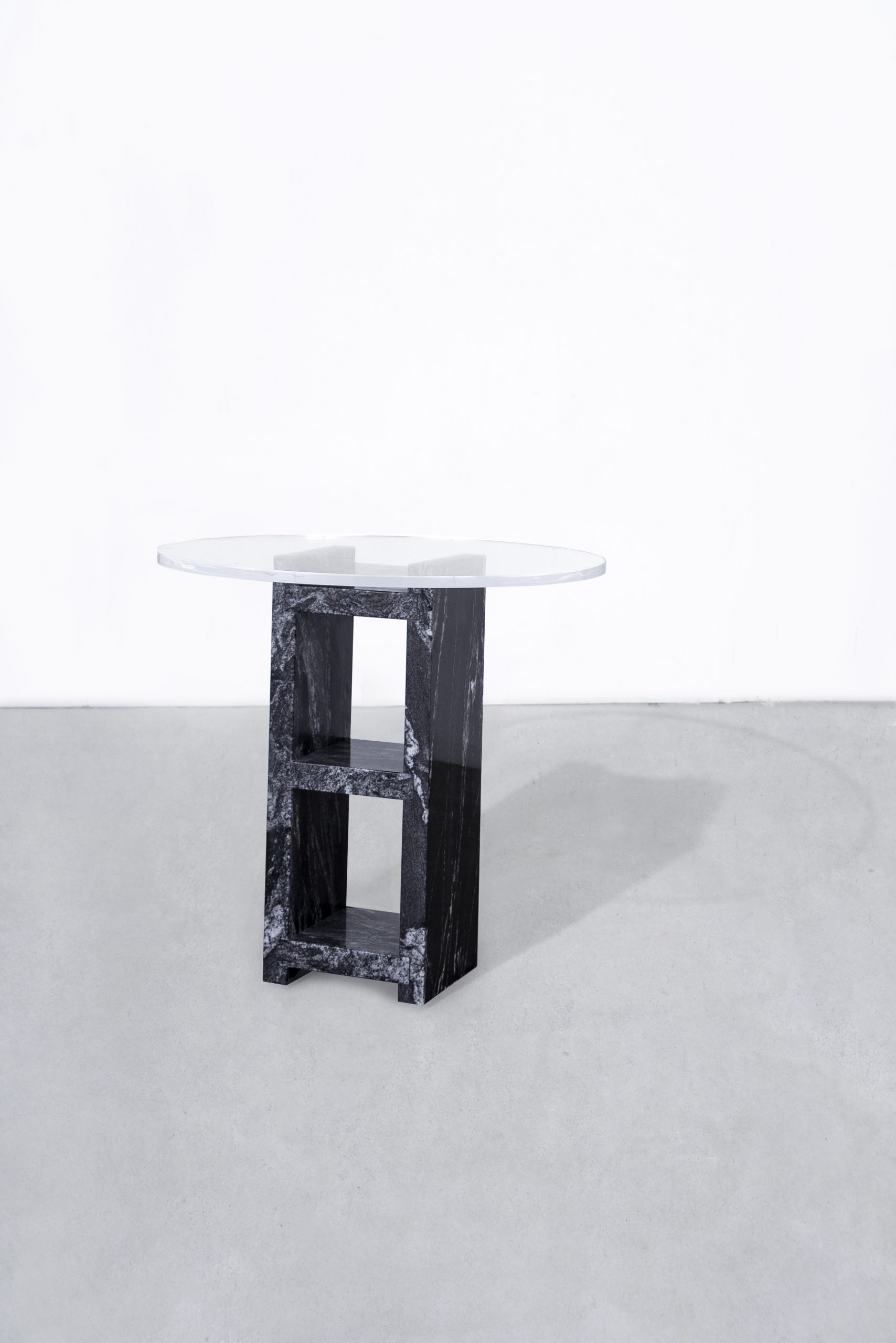 1 Cinder Block End Table Black Bond Hardware